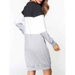 Graphic Color Block Sweatshirt Dress -
