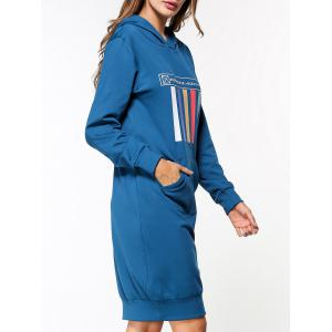Graphic Long Sleeve Hoodie Dress -