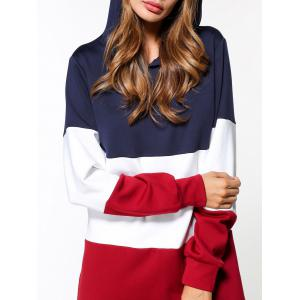 Patchwork Hoodie Dress -