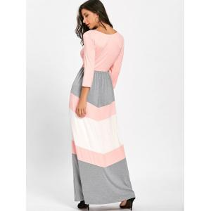 Chevron Stripe Scoop Neck Maxi Dress -