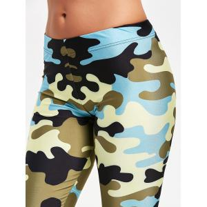 Camouflage Printed Stretchy Yoga Leggings -