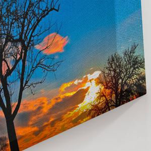 Tree Sky Print Canvas Wall Art Painting -