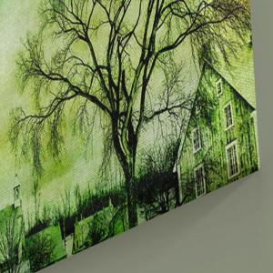 Town Tree Print Wall Art Canvas Painting -