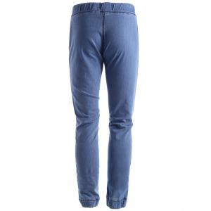 Stretch Drawstring Jogger Jeans -