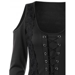 Halloween Lace Up Handkerchief Layered Gothic Dress -