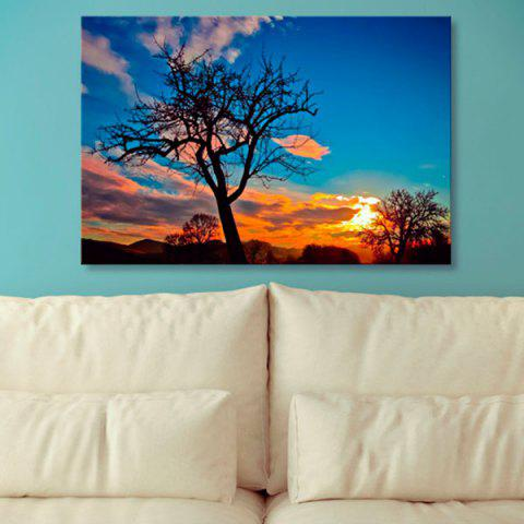 Outfit Tree Sky Print Canvas Wall Art Painting BLUE 1PC:24*39 INCH( NO FRAME )