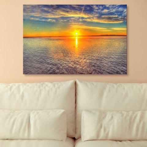 Outfits Sea Sunset Print Canvas Wall Art Painting COLORMIX 1PC:24*39 INCH( NO FRAME )