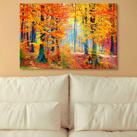 Latest Forest Tree Scenery Canvas Prints Wall Art Painting MAPLE LEAF 1PC:24*39 INCH( NO FRAME )