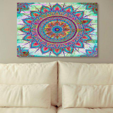Store Bohemian Mandala Print Canvas Wall Art Painting COLORMIX 1PC:24*39 INCH( NO FRAME )