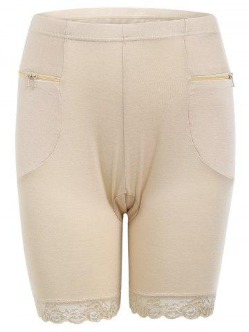 Outfits Zippers Safety Panties - ONE SIZE COMPLEXION Mobile