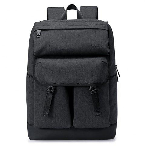 New Stitching Buckle Strap Backpack - GRAY  Mobile
