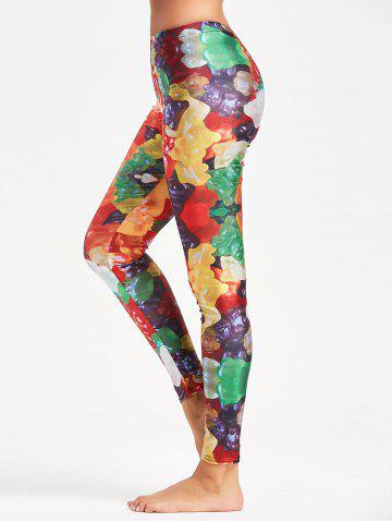 Leggings Multicolor Active Candy Pattern Jaune M