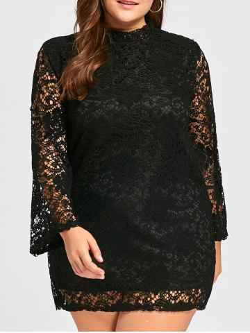 Shop Plus Size Long Sleeve Lace Crochet Sheath Dress