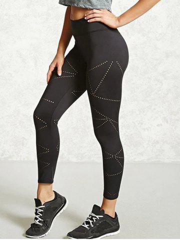 Store Openwork Sport Leggings - L BLACK Mobile