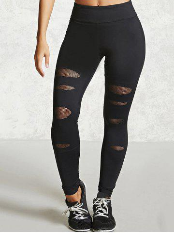 Online Yoga Leggings with Mesh - M BLACK Mobile