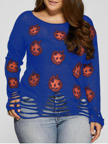 Unique Halloween Pumpkin Cute Plus Size Sweaters