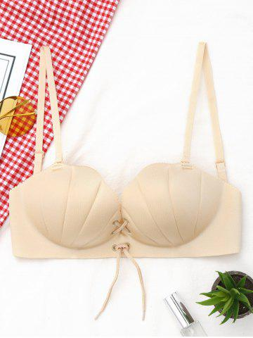 Sale Shell Shape Lace-up Padded Bra COMPLEXION 80B