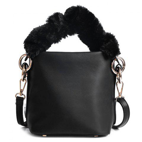 Sac à bandoulière Zipper Faux Leather Crossbody Noir