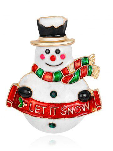 Forme de bonhomme de neige Let It Snow Brooch
