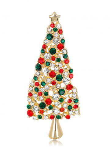 Buy Rhinestone Sparkly Christmas Tree Star Brooch