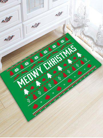 Outfit Christmas Tree Antiskid Flannel Thicken Bath Rug - W20 INCH * L31.5 INCH GREEN Mobile