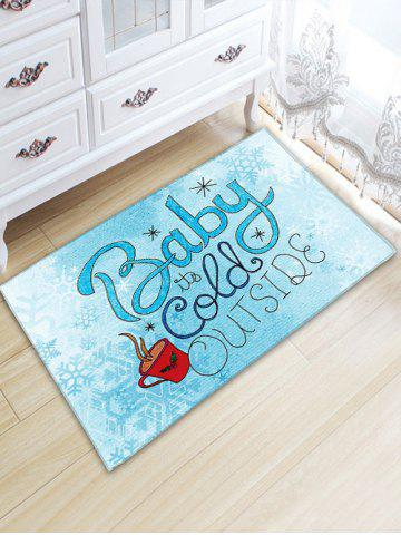 Trendy Christmas Letter Print Thickening Flannel Area Rug - W20 INCH * L31.5 INCH CLOUDY Mobile