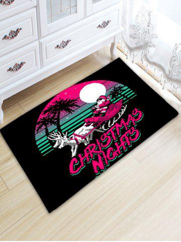 Shops Santa Claus Thickening Christmas Bathroom Rug BLACK W20 INCH * L31.5 INCH