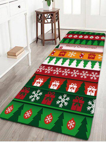 Cheap Flannel Thin Christmas Graphic Antiskid Rug