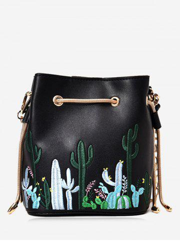 Hot Chain Embroidery Drawstring Crossbody Bag