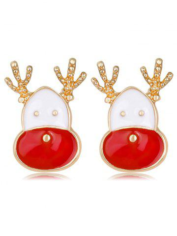 Unique Christmas Reindeer Head Shape Cute Earrings