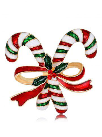 Buy Rhinestone Candy Cane Tiny Christmas Brooch
