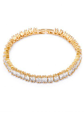 Hot Retro Rhinestone Embellished Bracelet WHITE