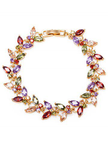 Cheap Butterfly Colorful Faux Gemstone Embellished Charm Bracelet - COLORFUL  Mobile