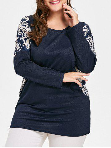 Cheap Graphic Drop Shoulder Plus Size Blouse