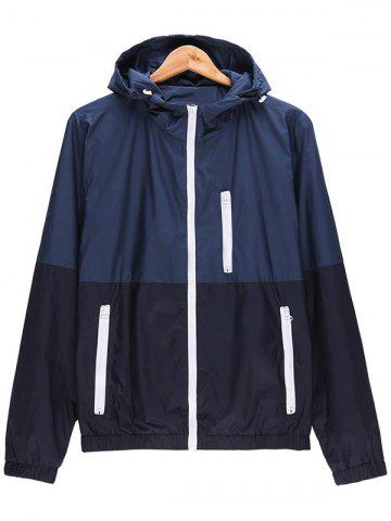 Shops Two Tone Zip Up Hooded Lightweight Jacket