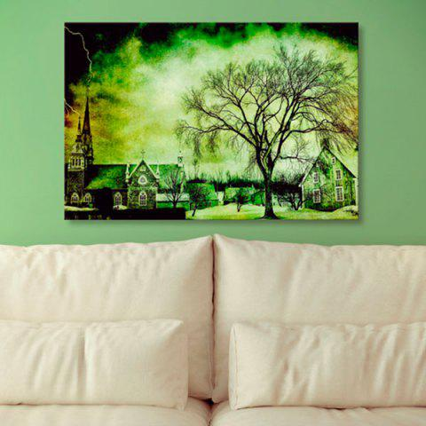 Cheap Town Tree Print Wall Art Canvas Painting