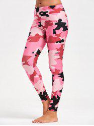 Camo Printed Workout Leggings - ACU CAMOUFLAGE M