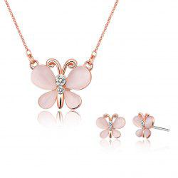 Ensemble bijoux Faux Opal Butterfly Design -