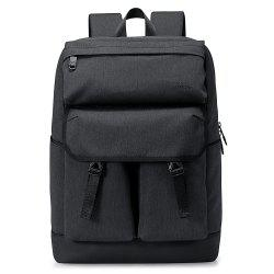 Stitching Buckle Strap Backpack - GRAY