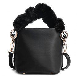 Sac à bandoulière Zipper Faux Leather Crossbody - Noir