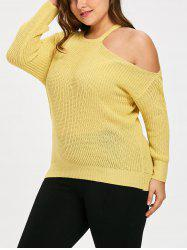Knit Plus Size One Shoulder Sweater -
