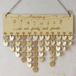 DIY Wooden Heart Family And Friends Birthdays Calendar Board -