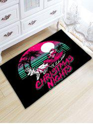 Santa Claus Thickening Christmas Bathroom Rug - BLACK W20 INCH * L31.5 INCH