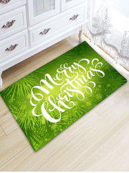 Flannel Thickening Letter Print Christmas Rug - GREEN W20 INCH * L31.5 INCH