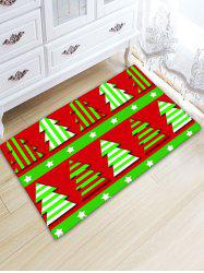 Flannel Thickening Christmas Tree Area Rug -