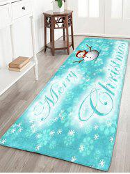 Thin Flannel Christmas Snowflake Snowman Rug - Cloudy - W16 Inch * L47 Inch