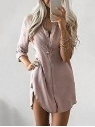 Button Down Tunic Dress -