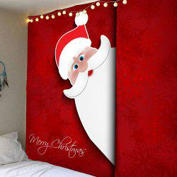 Waterproof Santa Claus Pattern Wall Hanging Tapestry -