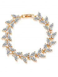 Butterfly Colorful Faux Gemstone Embellished Charm Bracelet - WHITE