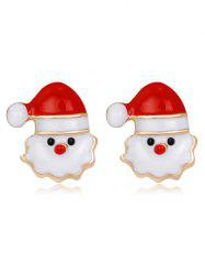 Tiny Christmas Santa Stud Earrings - Red